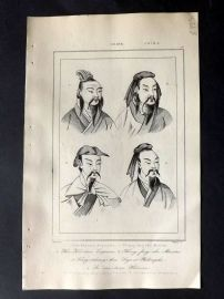 L'Univers C1850 Antique Print. Chinese Emperors, China 51